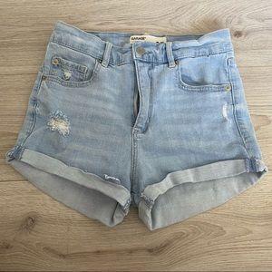 Garage high waisted jean shorts
